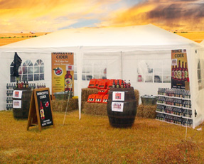 The Norcotts Cider Tasting Tent in All Its Glory