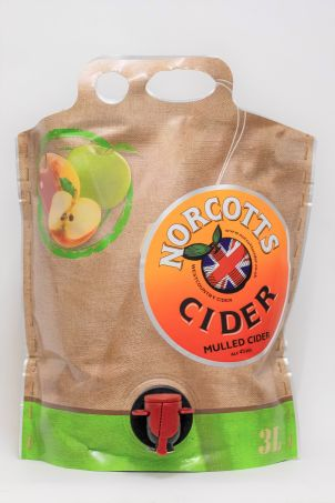Norcotts Mulled Cider 3l Pouch